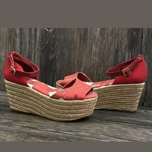 Tory Burch Sheri Floral Espadrille Platform Sandal